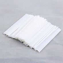 Pomôcky/Nástroje - Paličky na výrobu lízatiek - biele - duté - 10606970_