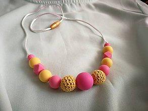Detské doplnky - Dojčenský silikónový náhrdelník (kojokorále)