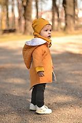 Detské oblečenie - Jarná rastúca prešívaná bunda  (Žltá) - 10610090_