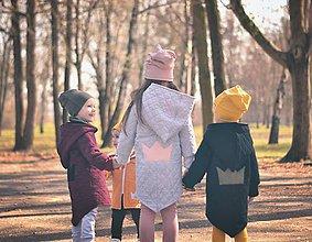 Detské oblečenie - Jarná rastúca prešívaná bunda  (Bordová) - 10610089_
