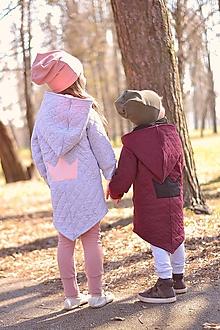 Detské oblečenie - Jarná rastúca prešívaná bunda  (Šedá) - 10610092_