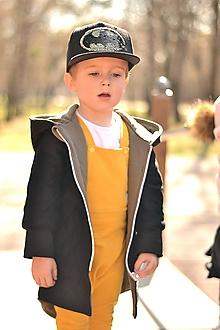 Detské oblečenie - Jarná rastúca prešívaná bunda  (Čierna) - 10610094_