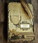 Papiernictvo - Svadobná kniha hostí/Kniha návštev/Kniha hostí/Vinárska kniha/Kronika/Album/ - 10607301_