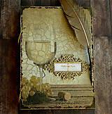 Papiernictvo - Svadobná kniha hostí/Kniha návštev/Kniha hostí/Vinárska kniha/Kronika/Album/ - 10607302_