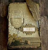 Papiernictvo - Svadobná kniha hostí/Kniha návštev/Kniha hostí/Vinárska kniha/Kronika/Album/ - 10607303_