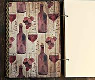 Papiernictvo - Svadobná kniha hostí/Kniha návštev/Kniha hostí/Vinárska kniha/Kronika/Album/ - 10607305_