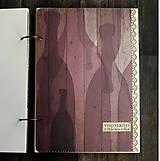 Papiernictvo - Svadobná kniha hostí/Kniha návštev/Kniha hostí/Vinárska kniha/Kronika/Album/ - 10607308_