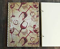 Papiernictvo - Svadobná kniha hostí/Kniha návštev/Kniha hostí/Vinárska kniha/Kronika/Album/ - 10607309_