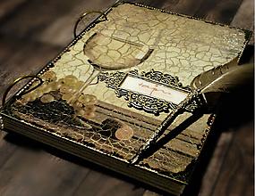 Papiernictvo - Svadobná kniha hostí/Kniha návštev/Kniha hostí/Vinárska kniha/Kronika/Album/ - 10607304_