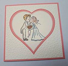 Papiernictvo - Svadobná pohľadnica - 10609659_