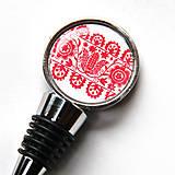 Iné - zátka s červeným folklórnym motívom - 10607481_