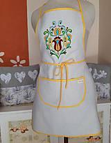 Iné oblečenie - Ručne maľovaná zástera - Lásky kvet - 10608510_