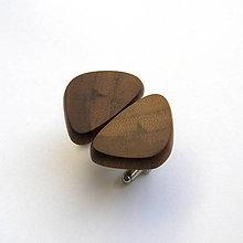 Šperky - Drevené manžetové gombíky - orechové kúsky - 10609501_