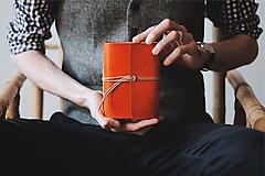 Papiernictvo - Kožený zápisník A6 - Ruth - 10608739_