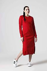 Šaty - Teplákové šaty červené - 10610403_