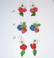 Náušnice - kvetinové náušnice - 10611606_