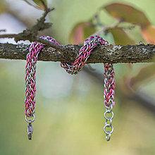 Náramky - Spletenec spirálový růžový - náramok - 10612104_