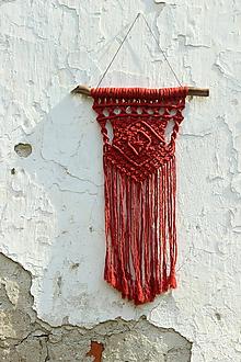 Dekorácie - tehlová makramé dekorácia
