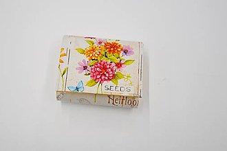Peňaženky - Peňaženka malá farebná záhrada - 10612648_
