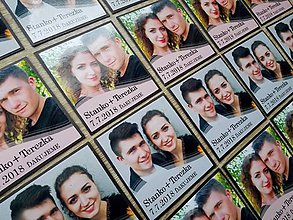 Magnetky - svadobné magnetky s Vašou fotografiou - 10610997_