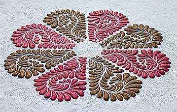 Obrazy - Kvítí z orientu, textilní obraz - 10610792_