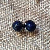 Náušnice - náušničky s lapis lazuli - 10612322_