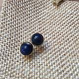 Náušnice - náušničky s lapis lazuli - 10612327_