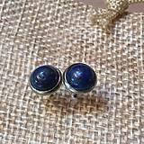 Náušnice - náušničky s lapis lazuli - 10612328_