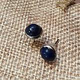 Náušnice - náušničky s lapis lazuli - 10612329_