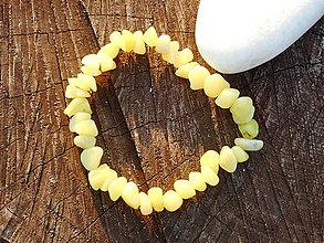 Náramky - green jadeit-náramok - 10612949_