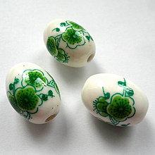 Korálky - Porcelánová oliva 13x18mm-1ks - 10613642_