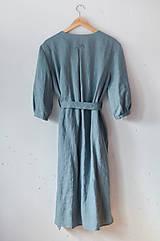 Šaty - Šaty/cardigan MARINA dymovo zelené - 10611132_