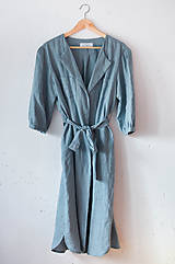 Šaty - Šaty/cardigan MARINA dymovo zelené - 10611133_
