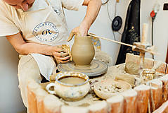 Nádoby - Modrý džbán na víno - 10610333_
