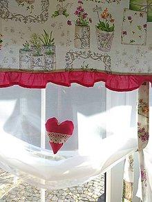 Úžitkový textil - Záclonka  jarná - 10610672_