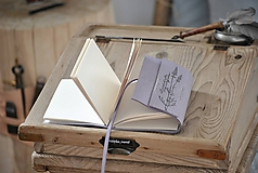 - atypický kožený zápisník LAVANDULA - 10612441_