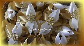 Pierka - Svadobné pierka zlaté - 10611499_