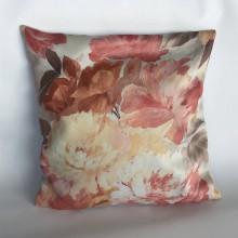Úžitkový textil - dekoračný vankúš kvety 06 - 10613210_