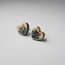 Náušnice - Tana šperky - keramika/zlato - 10612375_
