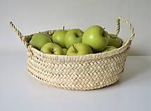Košíky - BASÍTA pletený košík, Rustikálny pletený košíček - 10610638_