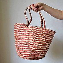 Košíky - Pletený palmový kôš REDLINE - 10612193_