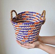 Košíky - Pletený palmový kôš (Monya) - 10612889_