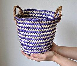 Košíky - Pletený palmový kôš (tafida) - 10612893_