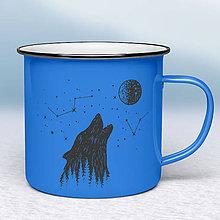 Nádoby - Modrý smaltovaný hrnček - 10613620_