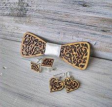 """Sady šperkov - Rodinný set """"Láska"""" - prírodný (Biela - malé náušnice) - 10612101_"""