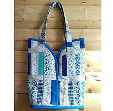 Veľké tašky - Prekrásna EKO TAŠKA KABELKA pre všetky ženy, teenegerky a dievčatá (Krásna modra DeLuxe látka I. XL) - 10613128_