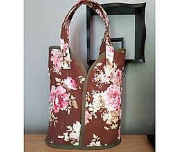 Veľké tašky - Prekrásna EKO TAŠKA KABELKA pre všetky ženy, teenegerky a dievčatá (Babičkina bordó záhrada s ružami XL) - 10613220_