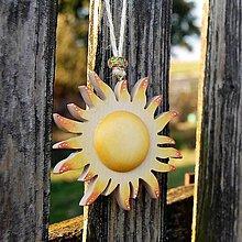 Dekorácie - Drevené Slnko - 10610239_