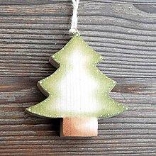 Dekorácie - Drevený Stromček - 10610735_