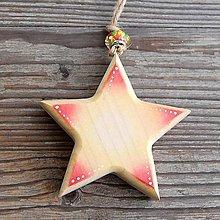 Dekorácie - Plná Drevená hviezda - 10611125_
